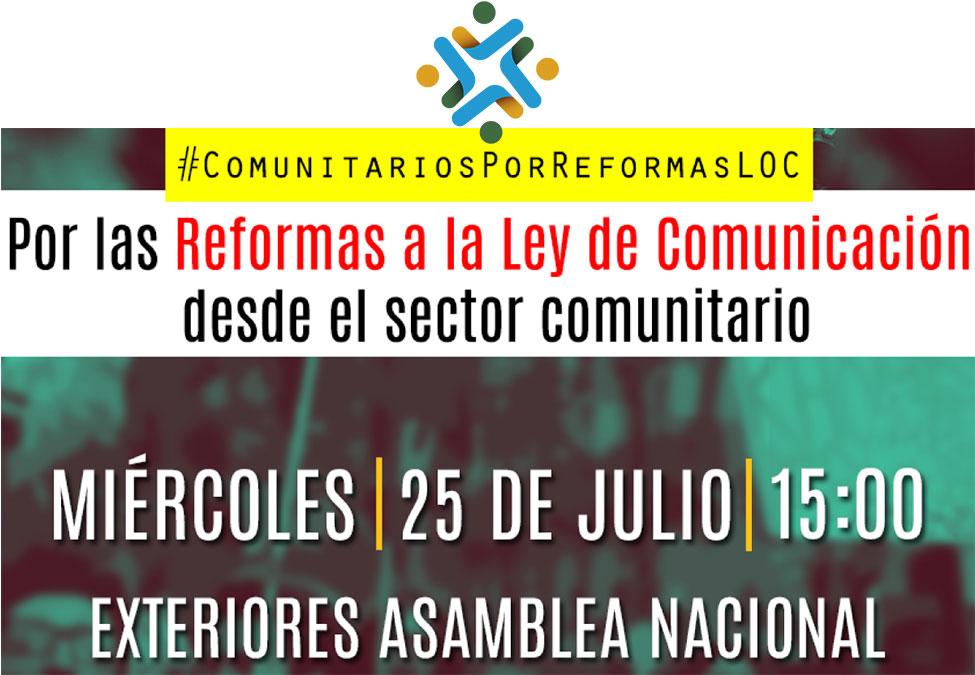 Reformas a la Ley de Comunicación desde el sectorcomunitario