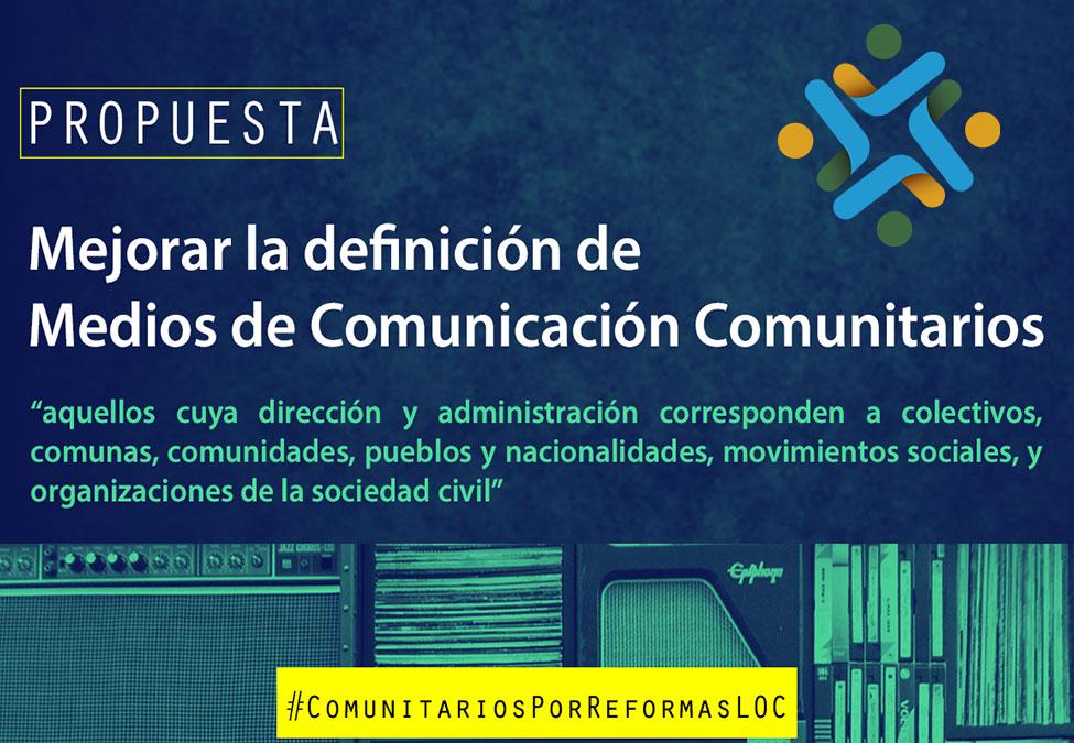 ¿Qué propuestas plantea el sector comunitario a la Ley deComunicación?