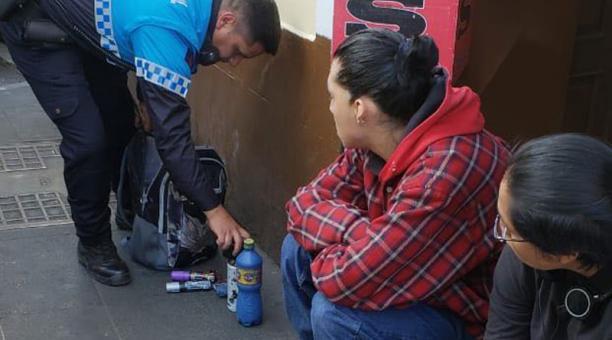 Detenidos Quito Grafiti