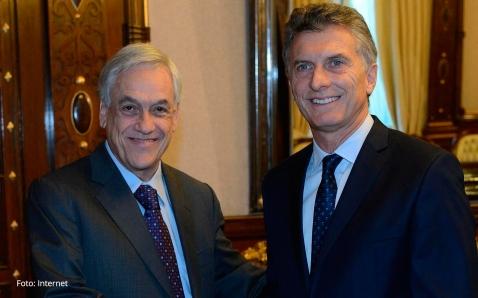 Mauricio Macri, Presidente de la Nación y su par chileno, Sebastián Piñera Foto Archivo