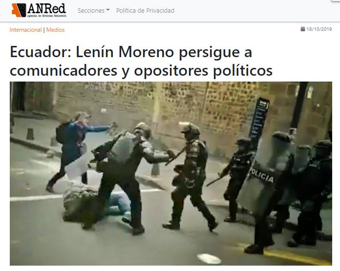ATAQUE A MEDIOS COMUNITARIOS ECUADOR