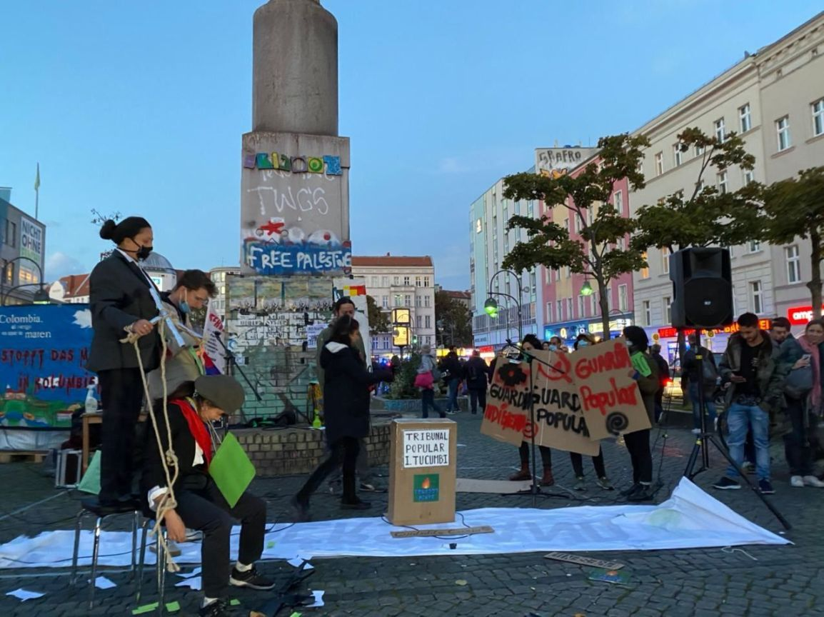 """Se realizó el Plantón Anticolonial """"El día que comenzó la resistencia"""""""